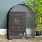 """""""Athelhampton"""" Arched Box Style Made to Measure Fire Guard in Situ in Front of the Fireplace"""