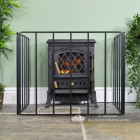 "Front View of the ""Inglewood Croft"" Heavy Duty Bespoke Fire Guard"