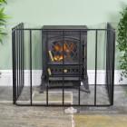 Black Heavy Duty Fireguard by the Fireplace