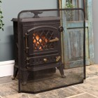 Black Fireplace spark guard