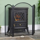 Traditional Three Fold Fire Guard in Situ by the Fire place