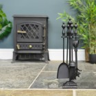 """""""Aysterworth Hall"""" Regal Black Iron Companion Set by the Fire Place"""