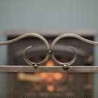 Close up of hand made blacksmith curl