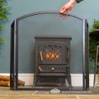 Plain Arched Three Fold Fire Guard to Scale