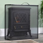 Arched Boxed Spark Guard in Situ Next to the Fire