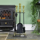 Traditional Companion Set in Situ Next to the Fire Place