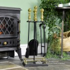 """""""Abbotsford"""" Traditional Companion Set in Black and Polished Brass 59cm"""