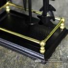 Polished Brass Rail Bar on the Base of the Companion Set