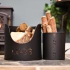 Modern Log Bucket & Kindling Holder