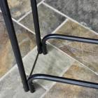Close up of metalwork frame