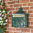 """Breckland Thyme"" Green Huntingdon Wall Mounted Post Box"