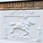 Close up of pony express motif