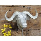 Silver Buffalo Head Bust