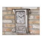 Brushed Silver Wall Mounted Clock and Storage Unit