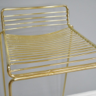 Close up of gold lined seat