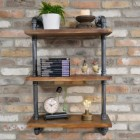 Industrial Pipe Wall Shelves