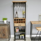 Modern Industrial Wine Cabinet