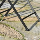Close up of framework on chair