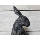 Hare Sculpture in Matte Black