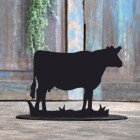 Cow Door Stop Created Out of Iron