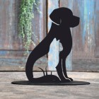 Cat & Dog Door Stop Created Out of Iron