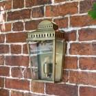 Georgian styled wall light in antique brass