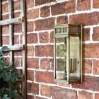 Flush Fix Bronze Wall Light