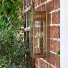 Flush Fix Bronze Wall Lantern