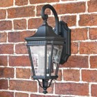 Large Traditional Black Wall Light