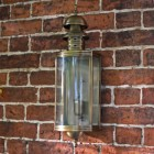 Elmslea Large Brass Half Wall Lantern