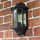 """Rookcliff Hall"" Traditional Black Porch Light"