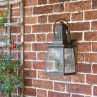 """Augusta"" Standard Solid Brass Wall Mounted Lantern  in Situ"