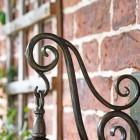 Traditional Dark Bronze Wall Light Scrolled Bracket