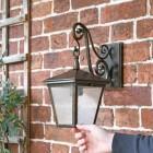 """Pennerley"" Traditional Dark Bronze Wall Lantern"