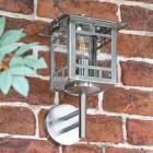 Stainless Steel Wall Lantern in Situ