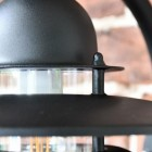 Modern Black Overhanging Wall Light Clear Panes