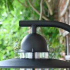 Modern Black Overhanging Wall Light Curved Bracket