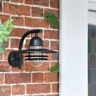 Modern Black Overhanging Wall Lantern