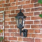 Large Bottom Fix Black Wall Lantern
