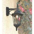 """Bridlington"" Large Top Fix Black Wall Lantern Colour"