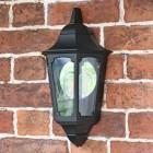 Flush-Fix Black Wall Lantern