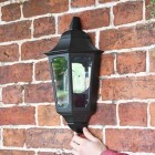 Flush-Fix Victorian Black Wall Lantern