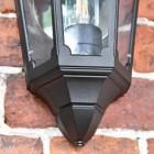 Flush-Fix Victorian Black Wall Lantern Bottom