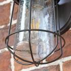Antique Bronze Standard Nautical Wall Lantern Seeded Dome Pane