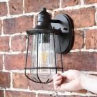 Antique Bronze Top-Fix Nautical Wall Lantern