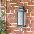 Traditional Aged Copper Wall Lantern in Situ