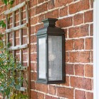 Traditional Aged Copper Wall Lantern Side Profile