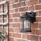 'Halsall' Traditional Bronze Standard Wall Light in Situ