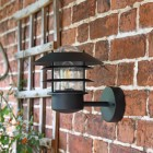 'Skive' contemporary black wall light