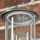 Contemporary Stainless Steel Wall Lantern Cylindrical Pane
